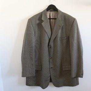 OSCAR DE LA RENTA Wool Silk Classic Lined Blazer